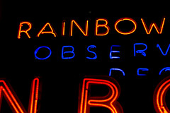 Neon Rainbow (guidokritz) Tags: nyc newyorkcity blue red orange usa ny black macro sign closeup night catchycolors typography nbc 50mm lights rainbow neon manhattan letters crop type lowkey neyyork canonef50mmf18ii canoneos60d