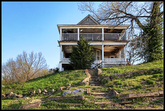 House on a Hill (ioensis) Tags: house town decay balcony small hill mo veranda missouri porch april hdr frankford jdl 2013 ioensis 85288531tmtc1c maybeallthehousesinfrankfordareonahill