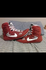 Nike grecos sz 8.5. Was told they fit big. Otw offer. (usawrestling126) Tags: freestyle shoes wrestling oldschool nike asics adidas greco combats grecos addix singlets wrastlin uploaded:by=flickrmobile flickriosapp:filter=nofilter shitstight
