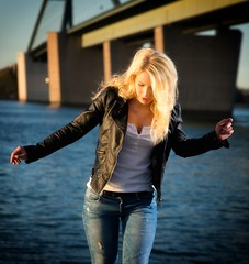 Miriam (dubdream) Tags: ocean sea portrait sky people woman water girl beauty fashion female germany nikon outdoor flash balticsea schleswigholstein fehmarnsund beautifulgirl d800 fehmarnsundbrcke strobistinfo dubdream