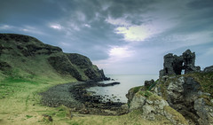 Kinbane (Mr Bultitude) Tags: ireland cliff castle evening bay coast rocks head late northern antrim kinbane