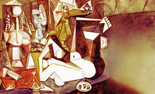 """Odaliscas (Mujeres de Argel) yuxtaposición y deconstrucción de Pablo Picasso (1955), síntesis de Roy Lichtenstein (1963). • <a style=""""font-size:0.8em;"""" href=""""http://www.flickr.com/photos/30735181@N00/8748001604/"""" target=""""_blank"""">View on Flickr</a>"""