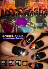 Cheryl Multi Coloured (invertednailsystems) Tags: uk pink orange black art yellow glitter training silver gold amazing neon pretty im nail powder course nails salon technician extension inverted false ims extensions nailart courses moulds enuk invertednailsystems easynail easynailuk
