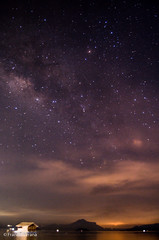 Milky Way over Taal Lake (nukem_) Tags: stars volcano astrophotography taal milkyway d40 deepskystacker Astrometrydotnet:status=solved Astrometrydotnet:version=14400 Astrometrydotnet:id=alpha20130522560232