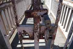 (Shane Henderson) Tags: old broken architecture fence handle gate peeling neglected entrance rusty x padlock locked crusty corroded northpark ruined mccandlesstownship