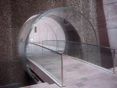 Waterfall Glass Tube Tunnel Midtown Manhattan 9954 (Brechtbug) Tags: park street new york city bridge fall water glass wall way waterfall walk manhattan tube bridges tunnel midtown half block through tunnels 7th 6th between avenues 48th 2013