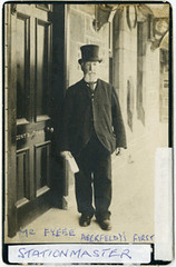 Tom G Fyffe,stationmaster c1875 (P&KC Archive) Tags: people building tourism fashion sport architecture scotland 19thcentury perthshire railway scene recreation roads royalty aberfeldy spectacle perthandkinross