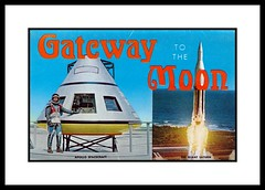 NASA Postcard Folder, 1964 (Cosmo Lutz) Tags: postcard astronaut nasa rocket capecanaveral apollo spacecraft 1964 capekennedy