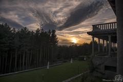 Parador de Gredos (Moments by Xag) Tags: sunset sky sun sol clouds forest atardecer twilight nikon bosque cielo nubes grassland ocaso pradera d610 2470 xag