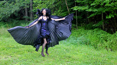 IMG_1724p (ScarletPeaches) Tags: fairy pixiefaerie fae isiswings fantasy outdoors bethw goth blackdress
