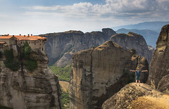 Meteora, Greece (Roya1Tipu) Tags: meteora greece europe temple mountain cliffs cliff rock photography