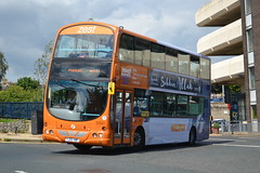 First Volvo B7TL 32541 YJ05VWF - Huddersfield (dwb transport photos) Tags: first volvo wright eclipse gemini bus decker 32541 yj05vwf zest huddersfield