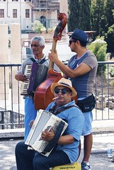 Street Musicians (C-V-W) Tags: street musicians music contrabass accordion bass mad sigaret italy rome forum romanum gipsy