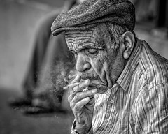 Market Man (Jim-Mooney) Tags: bw black white blackandwhite blackwhite mono monochrome monotone street photography people portrait kansascity candid fuji xt1 fujinon 50140mm