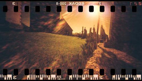 Pieve di San Pietro (pinhole redscale)
