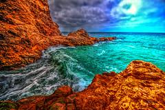 Entering the Cave (Michael F. Nyiri) Tags: ranchopalosverdes palosverdespeninsulacalifornia terraneacove ocean rocks pacificocean cffaa