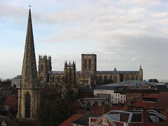 Gothic panorama (Szymek S.) Tags: towers spires roofs church cathedral minster yorkminster architecture gothic town oldtown york yorkshire england greatbritain unitedkingdom