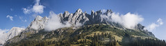 Gamsleitenkopf und Hockknig (A n d r  K a r a c h o) Tags: foto photo photoshop alpen berchtesgadener mountain panorama hochknig gamsleitenkopf wood sky cloud wolken summer big picture creativ commons 30
