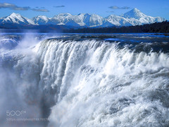Nature's Power (John. Blakey) Tags: ifttt 500px sky landscape lake mountains nature clouds waterfall thunder power composite textured
