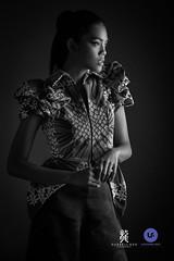 Michelle (Darrell Neo) Tags: studio fashion model lowkey lookbook lasalle college jakarta portraiture portrait nikon bw