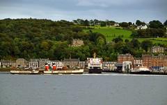 (Zak355) Tags: rothesay isleofbute bute scotland scottish ferries mvclydeclipper pswaverley paddlesteamer riverclyde shipping ship boat