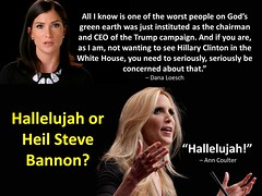 Hallelujah or Heil Steve Bannon (CoulterWatch) Tags: anncouler coulter bannon donaldtrump coreylewandowski trumpthug trump michellefields bully