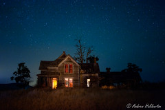 Abandoned Farmhouse 2 (AndrewHaliburton.com) Tags: abandoned andrewhaliburton astrolandscape astronomy astrophotography creepiestplaces derelict dilapidated earthandspace farmhouse goldendale haunted imagination lightpainting longexposure meteor midnight milkyway nwafterdark night nightphotography nightshoot nightsky nikonmfnikkor28mmf2ai noctography nocturnes rrsbd700l rrsbh55pcl rrstvc33 reallyrightstuff scariestplaces shootingstar star starry timeexposure urbanlight washington usa