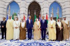 Secretary Kerry Poses for a Photo With Saudi Arabian Officials and Others in the Royal Terminal 1 at King Abdulaziz International Airport in Jeddah (U.S. Department of State) Tags: johnkerry jeddah saudiarabia sabahalkhalidalsabah muhammadbinabdullahalrahmanalthani yuseubinalwaibinabdullah adelaljubeir tobiasellwood abdullahbinzayed ismalouldcheikhahmed