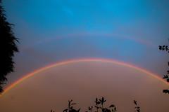 Very rare red rainbow (davidwalker58) Tags: weather clouds evening rain sky rainbow
