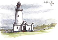 Norah Head10716-001 (panda1.grafix) Tags: norahhead lighthouse seascape pencilinkwash sketch