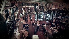 Saturday night at the iron horse...(HSS) (BillsExplorations) Tags: slide sliderssunday ironhorse saloon bar savanna illinois motorcycle vintage saturday night nightlife