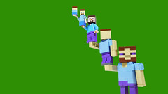 Leaning tower of Steves-a (BRICK 101) Tags: lego minecraft steve