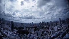 Tokyo Skyline (BUN BUKU) Tags: tokyotower sky cloud olympusomdem5 samyang75mmf35fisheye