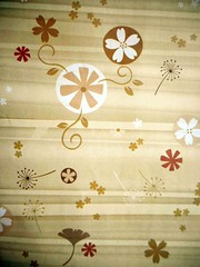 Thai wrapping paper 1 (tengds) Tags: paper wrappingpaper thaipaper giftpaper yellowishbrown flowers tengds