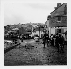 Spring Tide St Ives  - Circa 1967 (www.jhluxton.com - John H. Luxton Photography) Tags: stives cornwall kernow 1967 penwith storm springtide