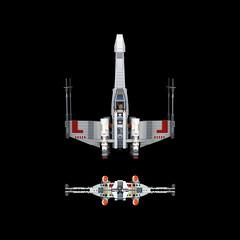 X-WING ( T-65B ) RED FIVE. SCANOGRAPHY (Darth Magnetus) Tags: lego starwars scanography xwing 9493 skywalker darthmagnetus