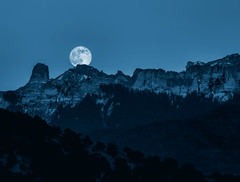 Prussian Moon (Scott Sanford) Tags: canon eos 6d travel trip vacation summer outdoor landscape nature colorado rockymountains mountains snow trees bluehour tamronsp150600mmf563 exploring explorer