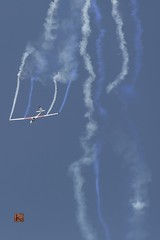 absolute freedom! (Ntino Photography) Tags: johangustafsson athensflyingweek2016 canoneos5dmarkiii canon70300mmf456iiusm aircraft outdoor bluesky stunts szd59acro coloredsmoke blue telephotolens greece tanagra