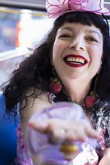 San Francisco, 2016 (mydeadbat) Tags: street portrait bright bus san francisco harajuku lolita woman pink colorful