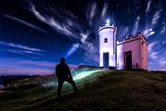Star Gazing (devlin11) Tags: stars self portrait elie lighthouse exposure eastcoast tranquil neuk colour coast cloudy nikon morning magic landscape fife fishing scotland scenery seaside
