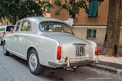 "Lancia Appia - Rear: ""Lato B"" (AleEstmodusinrebus?) Tags: lancia appia car classic outdoor door lato b latob rear dietro back grey cofano berlina ge genova genoa"