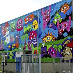 Capelle a d IJssel  OX-ALIEN & KBTR (Akbar Sim) Tags: capelleaandeijssel mientlive rewriters010 holland nederland netherlands graffiti streetart akbarsim akbarsimonse oxalien kbtr