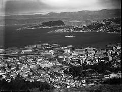 140; Elevated view of Lambton - Circa 1940 (Wellington City Council) Tags: wellington historicwellington 1800s 1900s 1950s