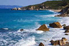 Splashing (simonturkas) Tags: greece travel adventure amazing beautiful wow wanderlust europe interesting water waves beach sun sunny