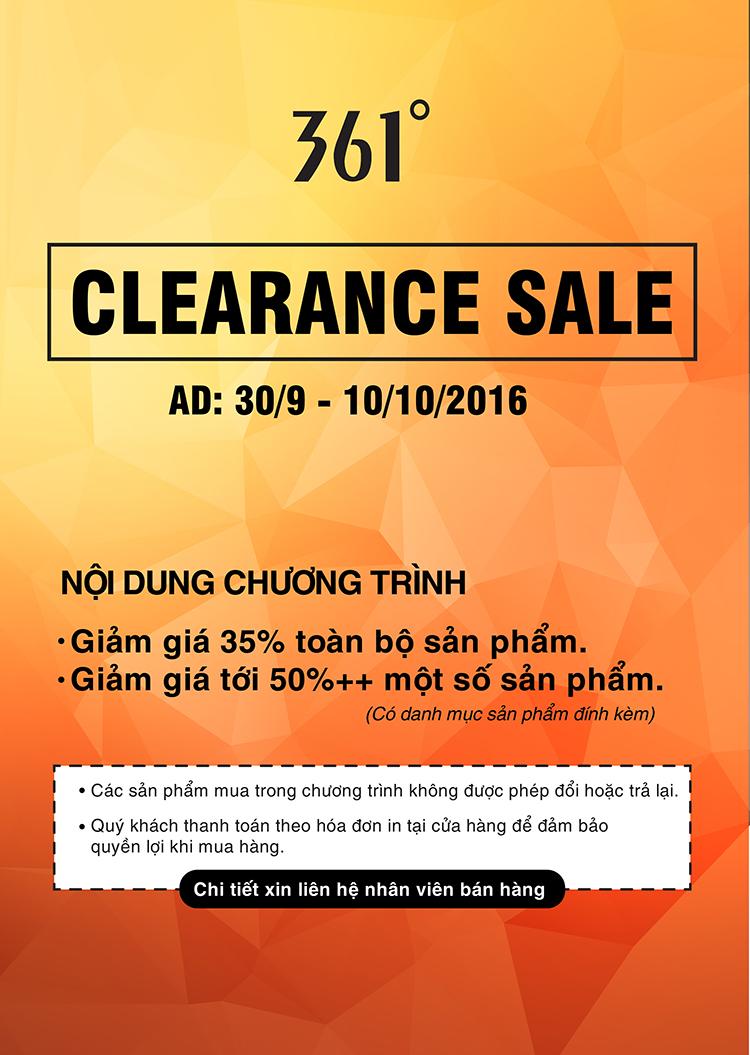 361 Clearance Sale