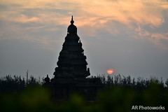 Shore temple (Anand Raghavan) Tags: india beach tamilnadu mahabalipuram mahabs shoretemple