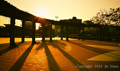 Light and shadow   ( Nana) Tags: park light sunset shadow golden colorful taiwan   lightandshadow   taiwan rememberthatmomentlevel1