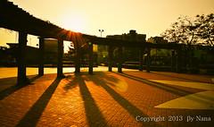 ╭★ Light and shadow  ★╮ (娜 娜☂Nana) Tags: park light sunset shadow sky love nature beautiful backlight golden nikon colorful taiwan 台灣 日落 lightandshadow 光影 黃昏 台灣taiwan i 我愛台灣 d7000 rememberthatmomentlevel1