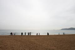 By The Sea, Heundae Beach (Mateikun) Tags: sea beach rain south korea busan heundae