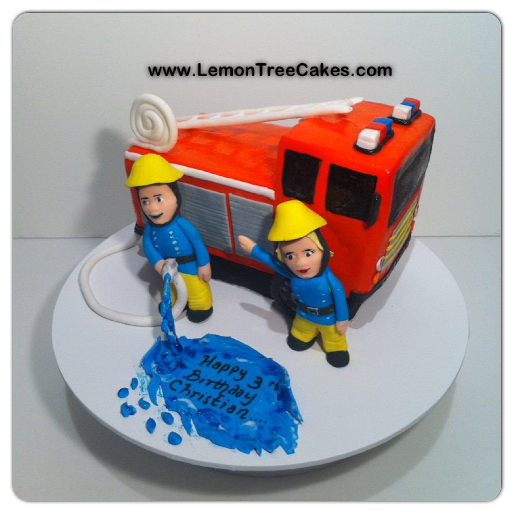 Fire Department Wedding Cakes